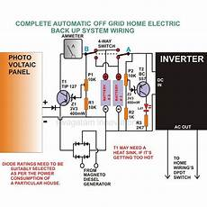 home inverter wiring diagram how to build the grid generator battery home backup systems