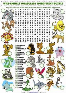 animal word search worksheets 14374 animals wordsearch
