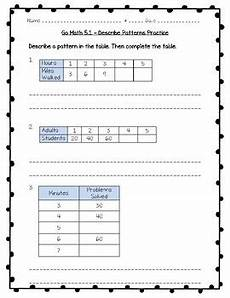 maths patterns worksheets for grade 5 505 go math practice 3rd grade chapter 5 use multiplication facts