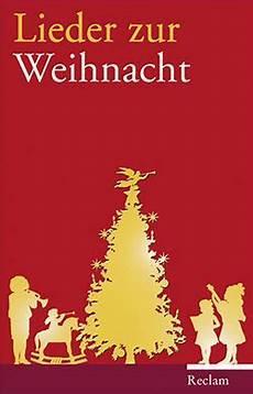 lieder zur weihnacht reclam verlag