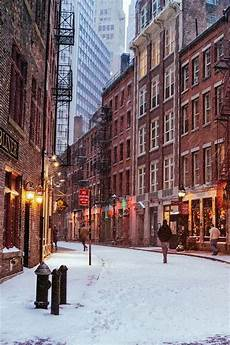 Iphone Wallpaper New York Winter by New York City Manhattan Usa Stadt Nacht Winter
