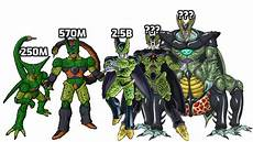 cell forms cell all forms power levels over the years dbh youtube