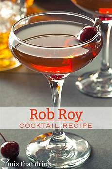 rob roy mix that drink