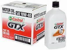 10w40 castrol gtx premium motor 6 quarts in new