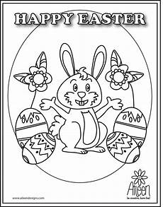 coloring pages happy easter