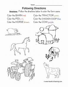 following directions worksheets free printable 11690 following directions worksheet coloring teaching