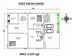 west facing house plans per vastu 58 x40 2 bhk west facing house plan as per vastu shatra