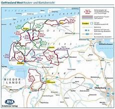 Ostfriesland West Adfc Radausflugsf 252 Hrer Fahrradkarte
