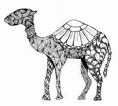 ausmalen als anti stress arabische welt kamel 9