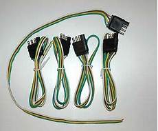 5 wiring harness 4 connector trailer end bond 4 way flat plug 24 quot wire