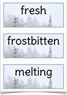winter worksheets ks1 20027 winter adjectives treetop displays eyfs ks1 ks2 classroom display and primary teaching aid