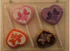 HEART WITH BUTTERFLIES BELLS LOLLIPOP CHOCOLATE CANDY MOLD