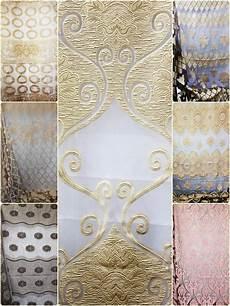 gardinenstoff stoff meterware jacquard organza 280 cm