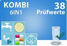trinkwassertest kombi plus 38 pr 252 fwerte trinkwasser