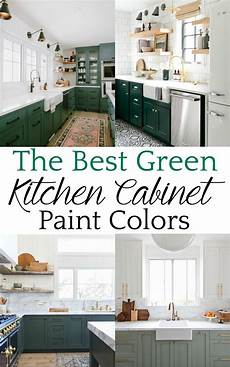 a up of the best green kitchen cabinet paint colors for the bold kitchen color