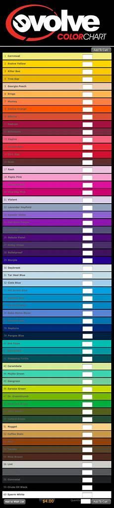evolve paint color chart fat cap magazine evolve premium color chart