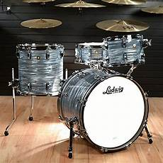 Ludwig 12 14 20 Classic Maple 3pc Kit Vintage Blue Oyster