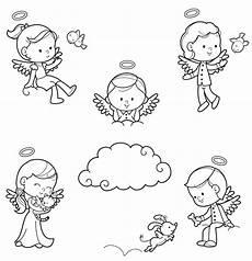 Engel Malvorlagen Zum Ausdrucken Jung Ausmalbild Engel Verschiedene Engel Und Ein Hund