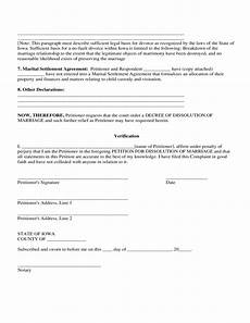 petition for dissolution of marriage iowa free download