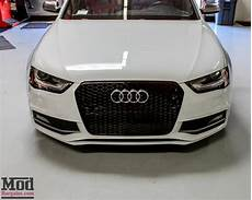 front grille for 2009 14 audi a4 s4 b8 5 rs4 style black honeycomb