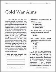 free printable worksheets for high school 18654 cold war aims free printable worksheet for high school american history high school