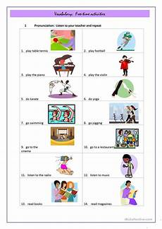 free activity worksheets 20305 free time activities worksheet free esl printable worksheets made by teachers
