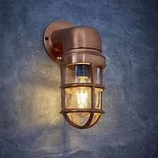 vintage industrial cage bulkhead wall light sconce with glass copper