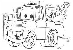 How To Draw Tow Mater From Disney Cars Movie  Coloring