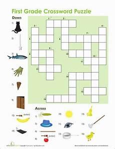 1st grade vocabulary crossword worksheet education com