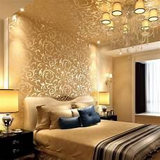 luxury 3d gold wallpaper non woven cloth european style