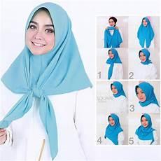 Jilbab Segi 3 Instan Voal Motif