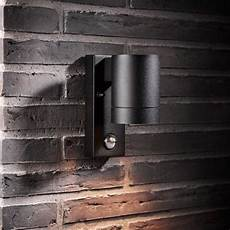 nordlux tin maxi outdoor wall light with sensor black