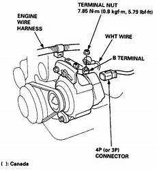 97 honda civic alternator wiring diagram i m trying to change out the alternator on my 97 honda civic 1 6 automatic non v tech