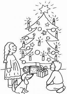 kostenlose malvorlage weihnachten kinder unterm