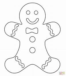 gingerbread coloring page free printable