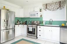 Kitchen Unit Makeover Paint by Low Cost Kitchen Makeover In A Coastal Style Diy
