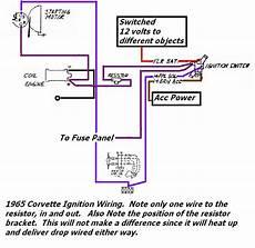 1969 corvette ignition wiring diagram 1965 corvette basic ignition wiring willcox corvette inc