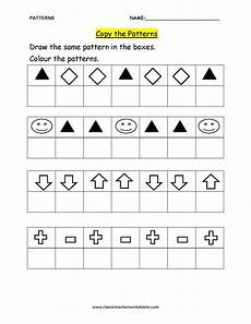 copying patterns worksheet for kindergarten 325 check out our collection of math worksheets at classicteacherworksheets worksheet patterns