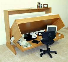 Wooden Murphy Bed With With Desk Combination