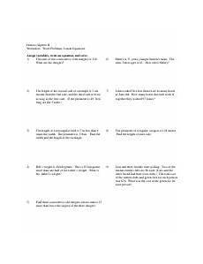 word problems linear and inequalities pdf honors algebra ii worksheet word problems linear