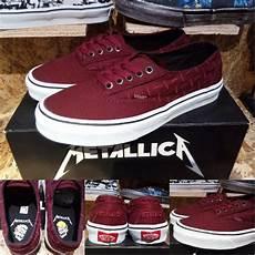 jual sepatu vans era laceless pro metallica metalica maroon merah maruun original