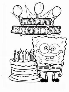 happy birthday coloring pages free printable happy