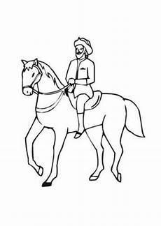 Malvorlage Galoppierendes Pferd Ausmalbilder Berittenes Pferd Pferde Malvorlagen