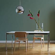 chrome dining table by usm haller connox