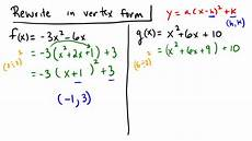 completing the square to write a quadratic in vertex form youtube
