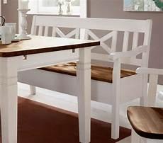 Sitzbank Küche Weiß - massivholz sitzbank 148cm 2farbig wei 223 honig kiefer truhen