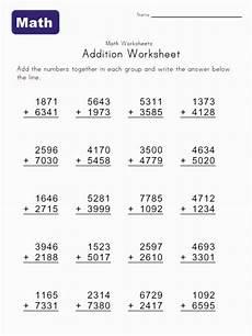2 3 4 digit addition worksheet 3 digit 4 addend addition worksheet math worksheets kids math