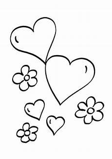 Ausmalbilder Blumen Und Herzen Kostenlose Malvorlage Herzen Herzen Und Blumen Zum Ausmalen