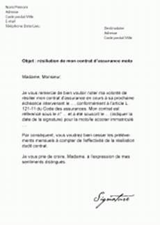 Mod 232 Les De Lettres De R 233 Siliation Pour R 233 Silier Un Contrat