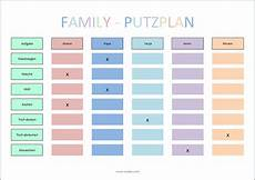 Putzplan Vorlage F 252 R Singles Paare Familie Wg